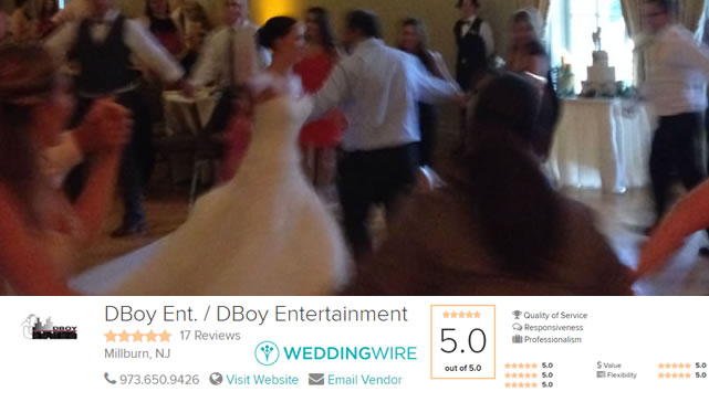 Wedding Entertainment DJ Millburn New Jersey