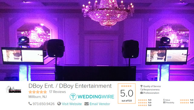 Wedding Reception DJs Fairfield New Jersey